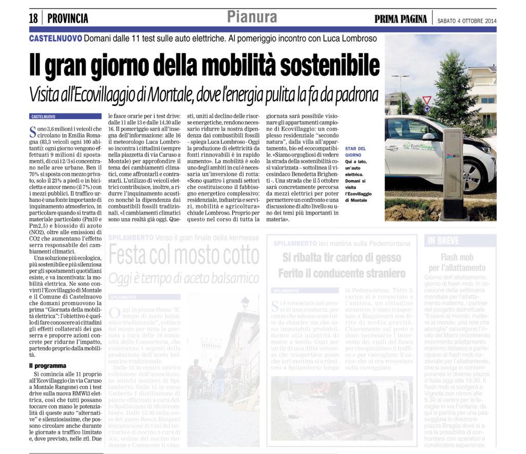 5 ottobre articolo prima pagina