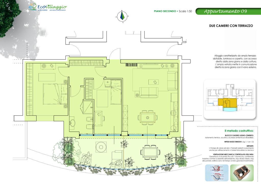 Appartamento 2 camere con Terrazzo - Progetto Aida