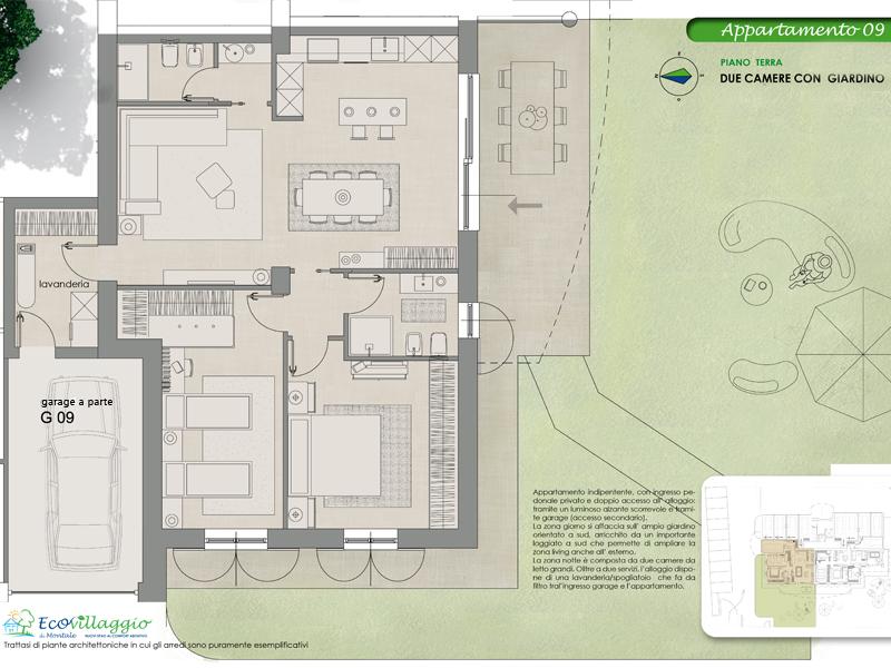 Appartamento con ingresso indipendente e due camere mia for Garage di costruzione in acciaio con appartamento