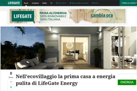Ecovillaggio: prima casa ad energia LifeGate