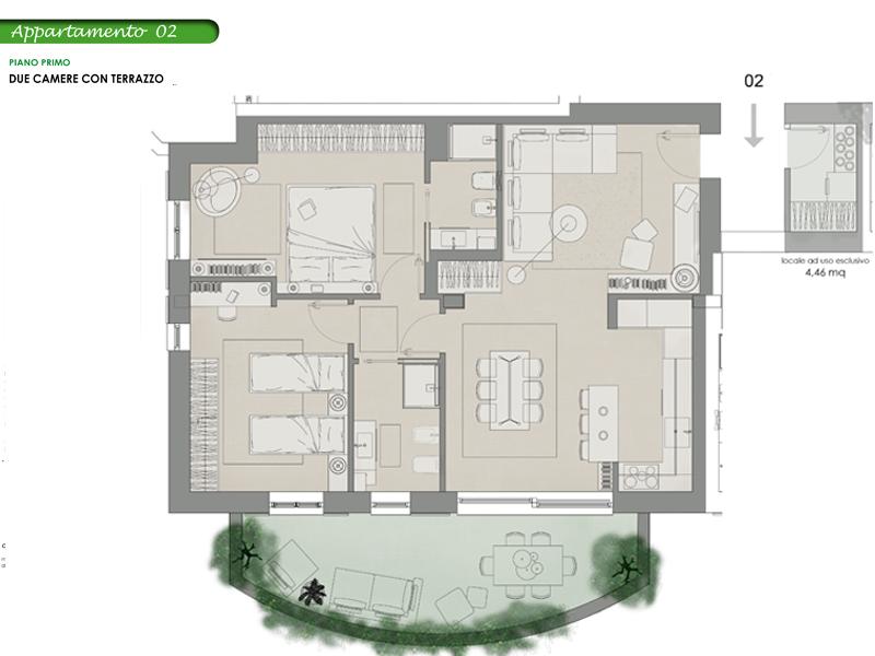 Appartamento 2, Lotto 10 <strong>NOVITA&#8217;</strong>