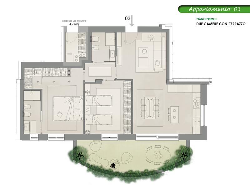 Appartamento 3, Lotto 10 <strong>NOVITA&#8217;</strong>