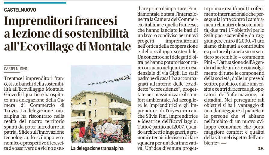 Gazzetta di Modena Imprenditori francesi in Ecovillaggio Montale