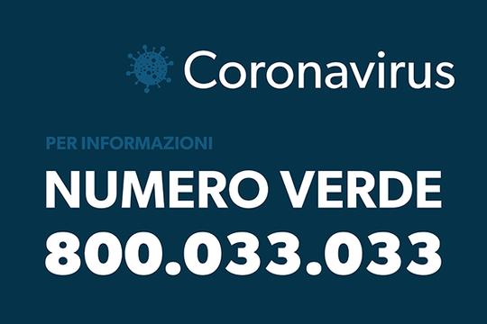 CoronaVirus numero verde