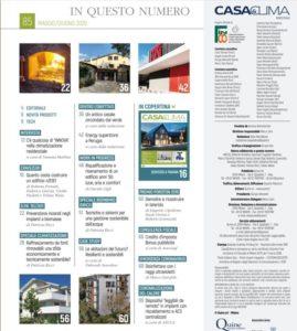 Articolo Casa&Clima Ecovillaggio Montale